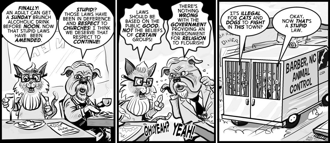"""Lawful House Breakfast"" – cartoon by Brent Brown"