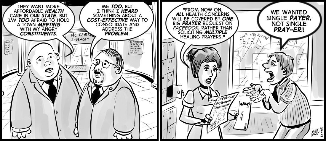 """""""Expanding Social Media-Care"""" – cartoon by Brent Brown"""